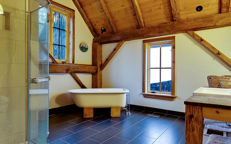 Bathroom of the Barn conversion in Cantley Quebec