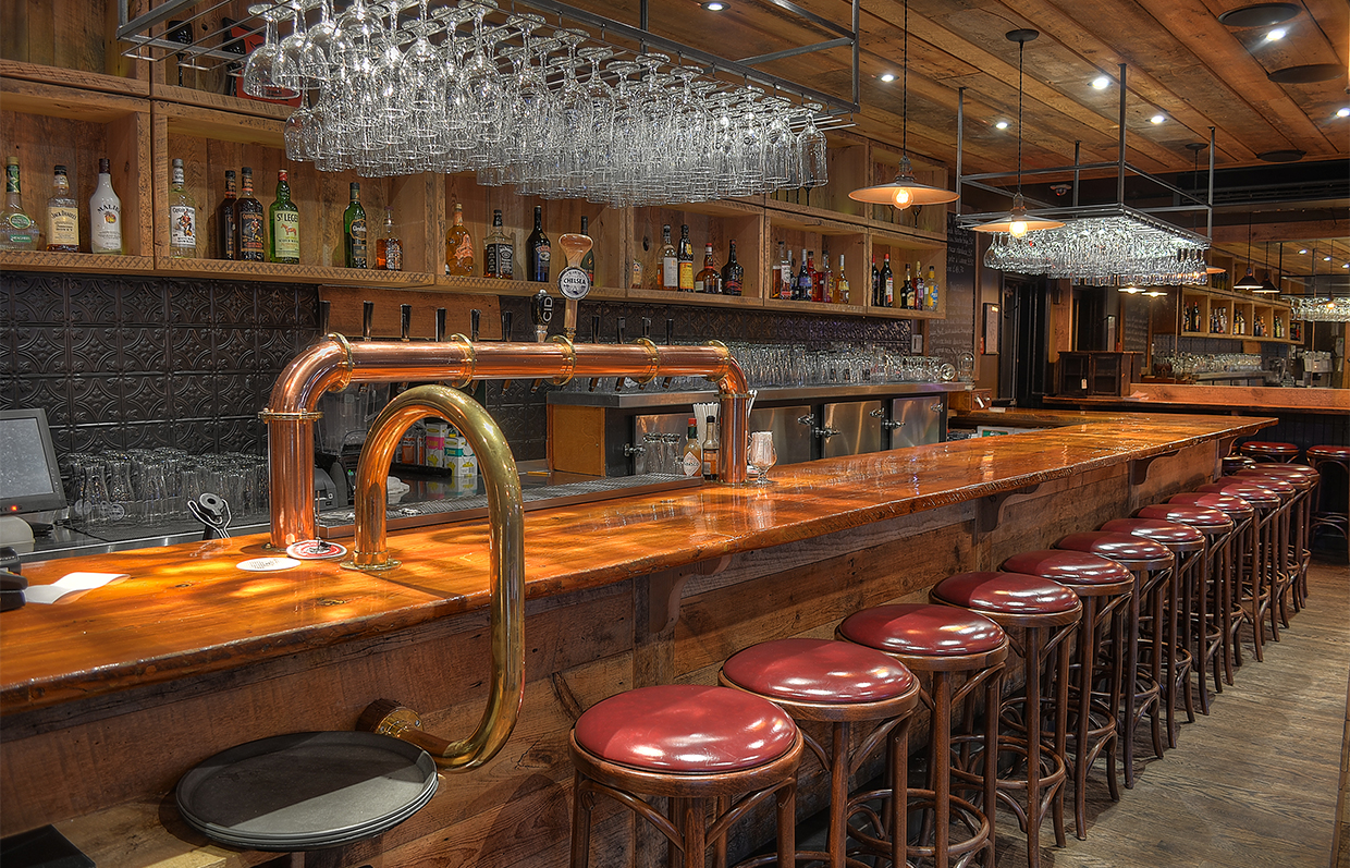 Stools and bar at Gainsbourg in Gatineau Quebec