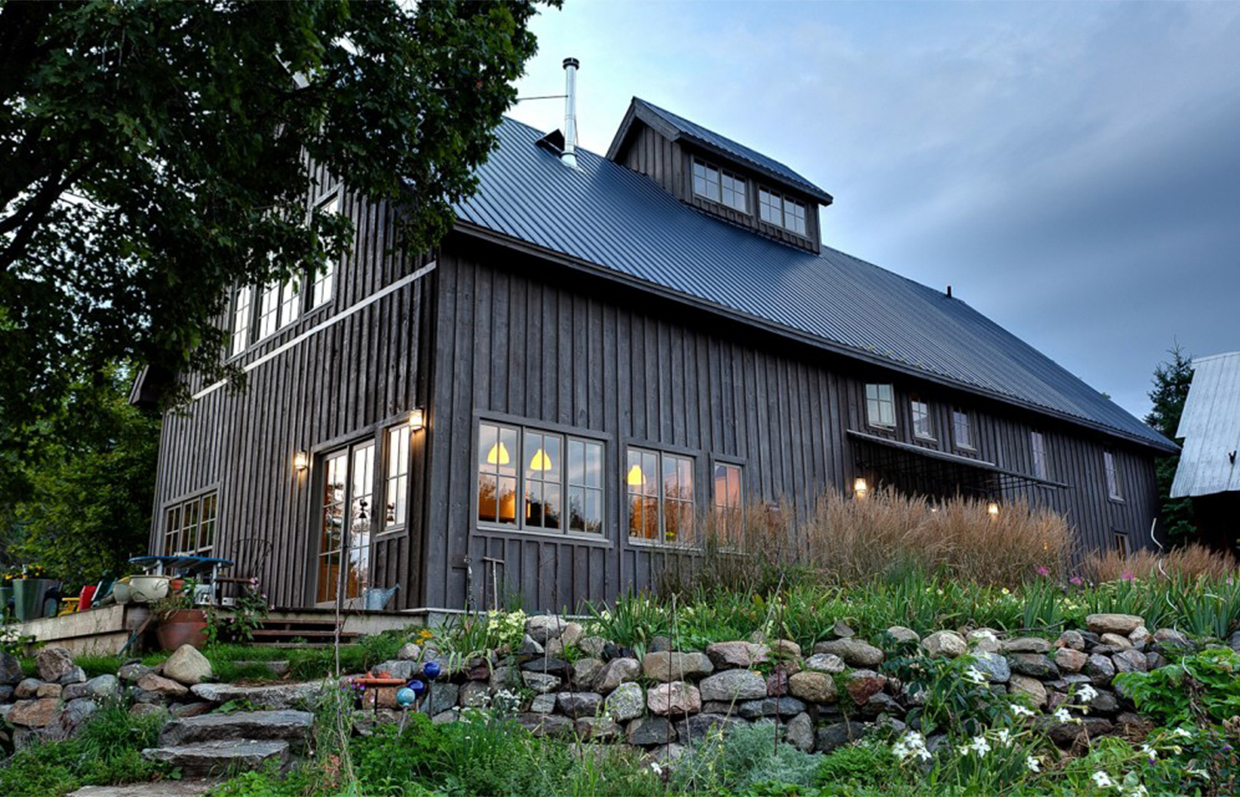 Outside view of the Barn conversion in Cantley Quebec