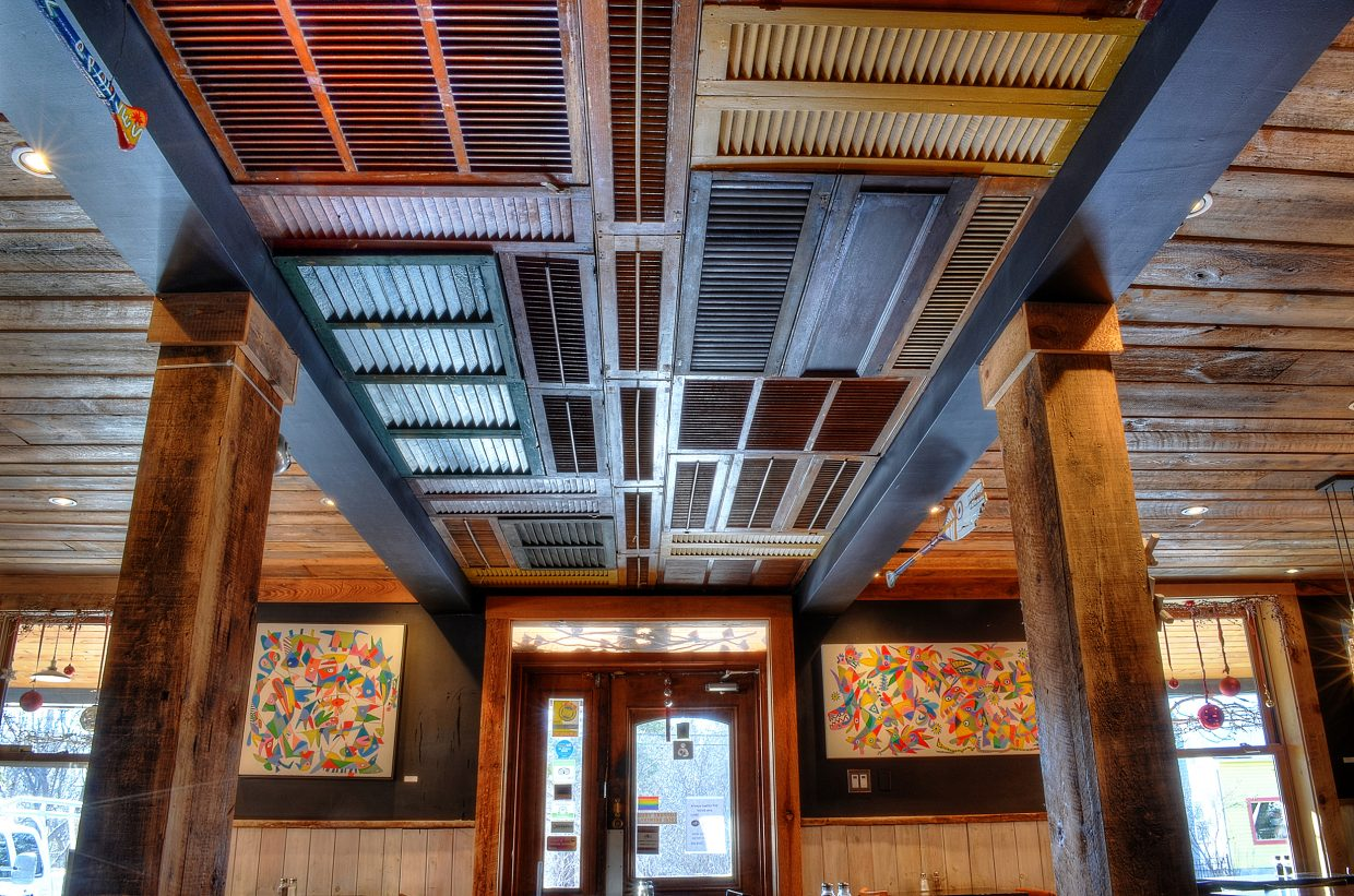 Ceiling of the Chelsea's Pub in Chelsea Quebec