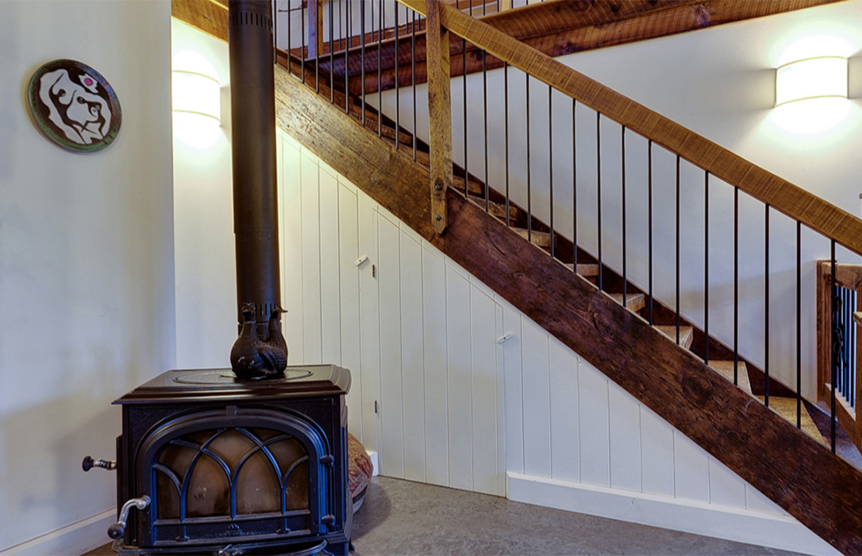 Stairs of the Barn conversion in Cantley Quebec